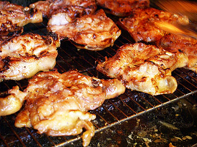 Thai-style Char-grilled Chicken Leg Steak in Shida Night Market ...