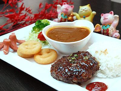 日式汉堡排咖哩儿童餐