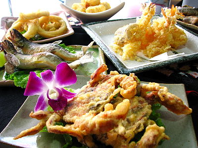 酥炸軟殼蟹、三點蟹 日本料理吃到飽餐廳老闆不惜重本
