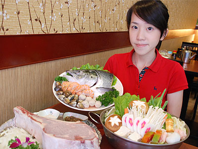 板橋日本料理店 重份量新鮮魚頭火鍋