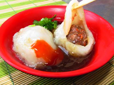 東海地方小吃 皮薄餡多的清蒸肉圓