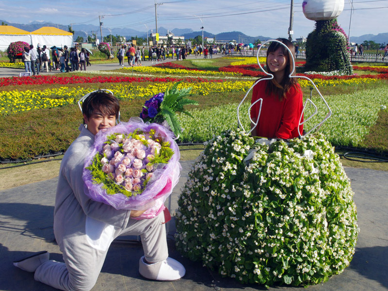 2013 Xinshe flower-sea festival - Propose Marriage
