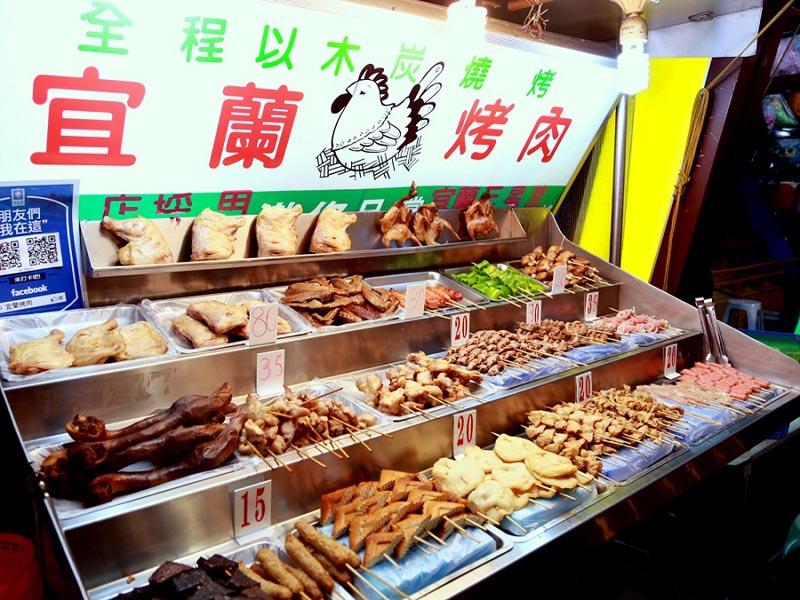 花蓮東大門夜市碳烤雞腿 宜蘭吃不到的宜蘭烤肉